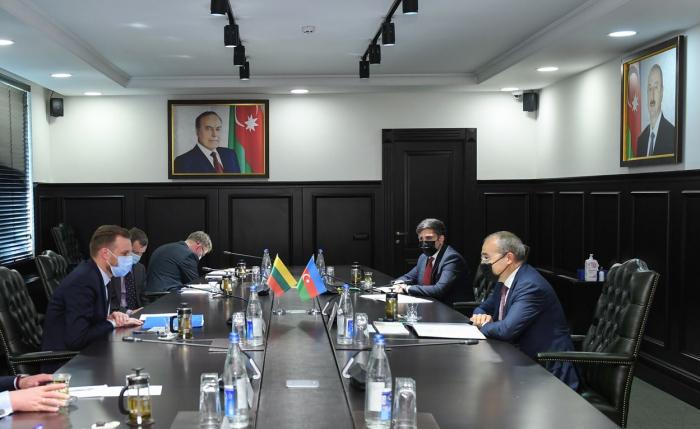 Aserbaidschans Wirtschaftsminister trifft sich mit dem litauischen Außenminister