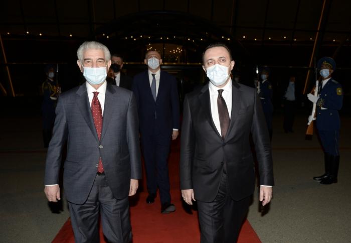 Qaribaşvilinin Azərbaycana səfəri başa çatdı