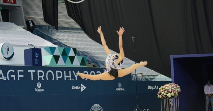 Es el primer día de la Copa del Mundo de Gimnasia Rítmica en Bakú