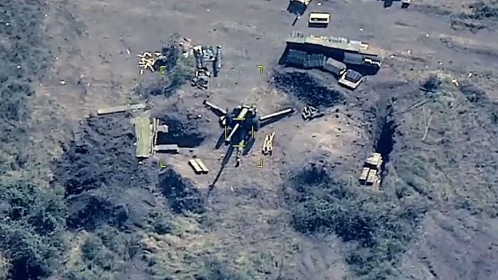 Azerbaijan MoD shares   video   of destroyed Armenian military targets