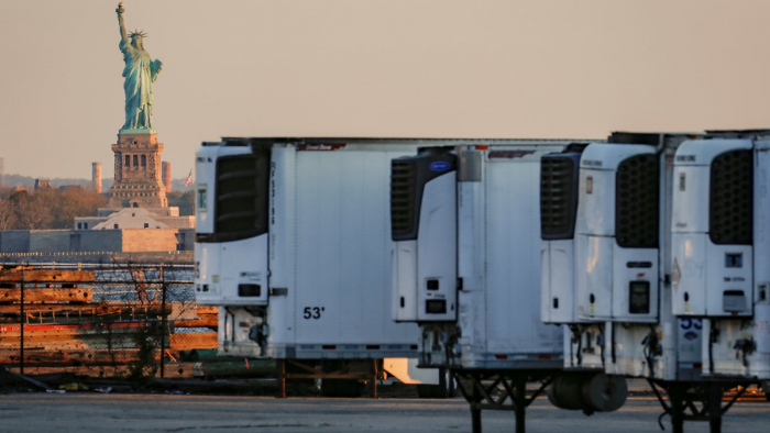 750 US-Tote liegen noch in Kühllastern