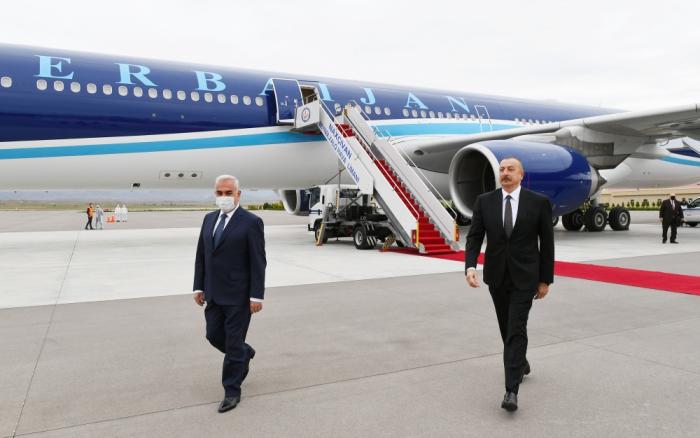 President Ilham Aliyev arrives in Nakhchivan Autonomous Republic – UPDATED