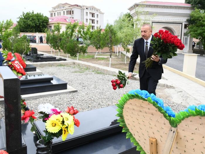 President Ilham Aliyev visits martyrs' graves in Nakhchivan –   PHOTOS