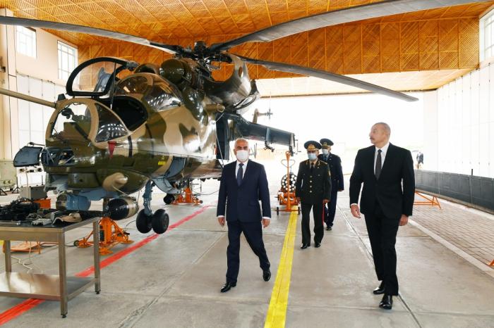 President Aliyev attends opening of military aerodrome in Nakhchivan - PHOTOS