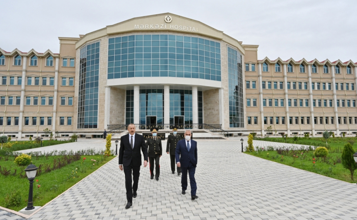 Azerbaijani president attends opening of Nakhchivan Garrison Central Hospital - PHOTOS