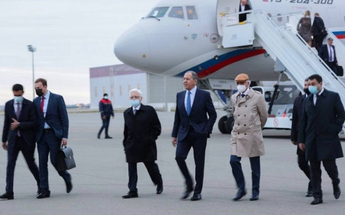 Russian foreign minister arrives in Azerbaijan