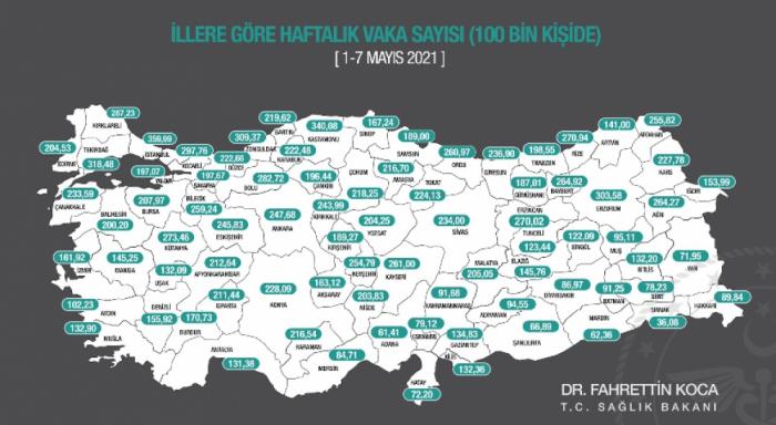 Türkiyədə ən çox yoluxma İstanbulda qeydə alındı