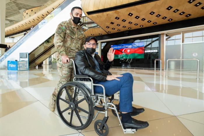 Azerbaijan sends 11 more war veterans to Turkey for treatment