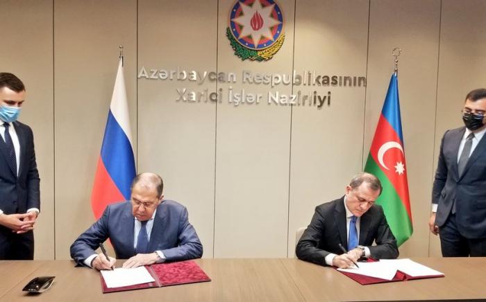 Azerbaiyán y Rusia firman Plan de Consultas para 2021-2022