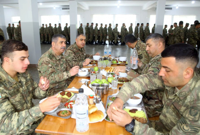 Azerbaijani defense minister visits military unit stationed in liberated territories