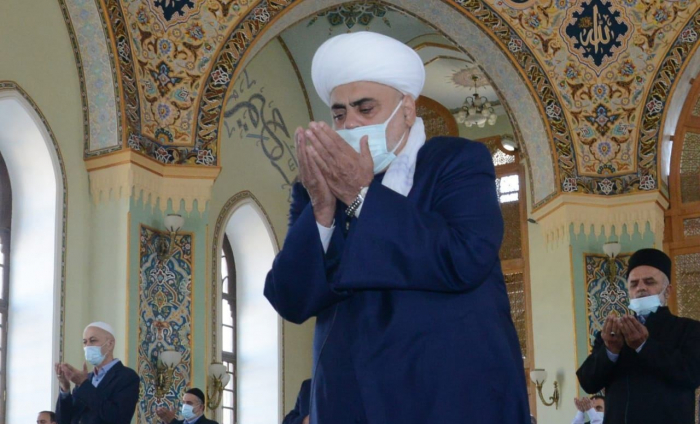 Eid prayer performed at Teze Pir mosque in Azerbaijan