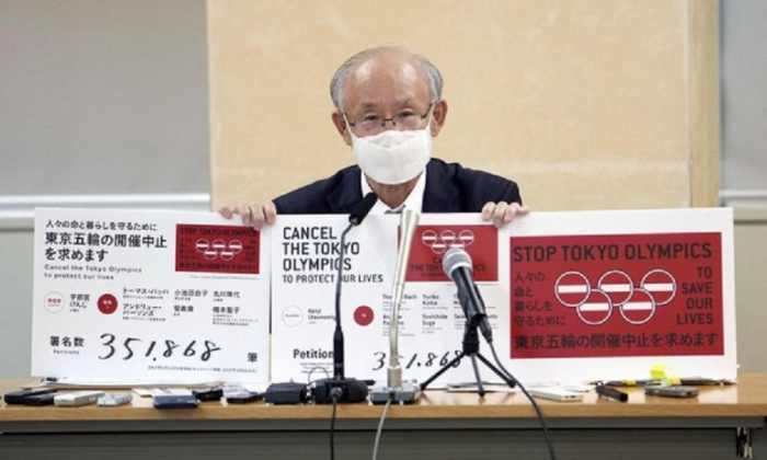 Olympics-Petition against Tokyo Olympics with 350,000 signatures submitted to organisers