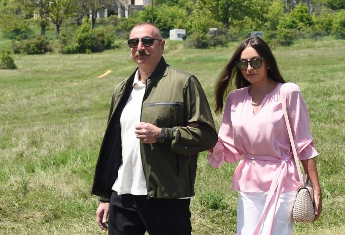 Azerbaijani President arrives in Gabala district