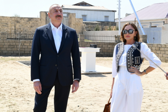 President Ilham Aliyev and Mehriban Aliyev visit Albanian church in Gabala