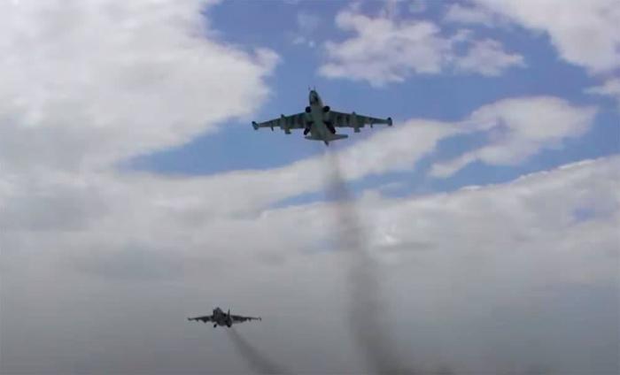Azerbaijan Air Force aircraft conduct training flights