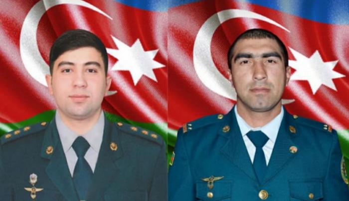 Deuxgardes-frontièresazerbaïdjanais tombés en martyr enterrés