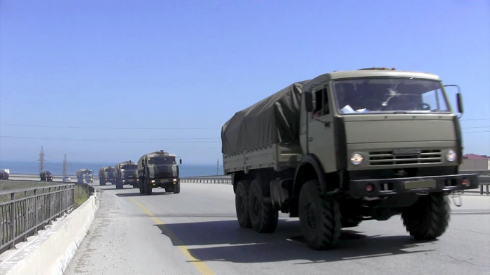 Azerbaijan MoD: Troops involved in exercises moving forward to operational areas -  VIDEO