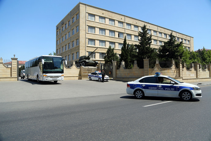 Azerbaijani troops and military vehicles leave for exercises area -   PHOTO