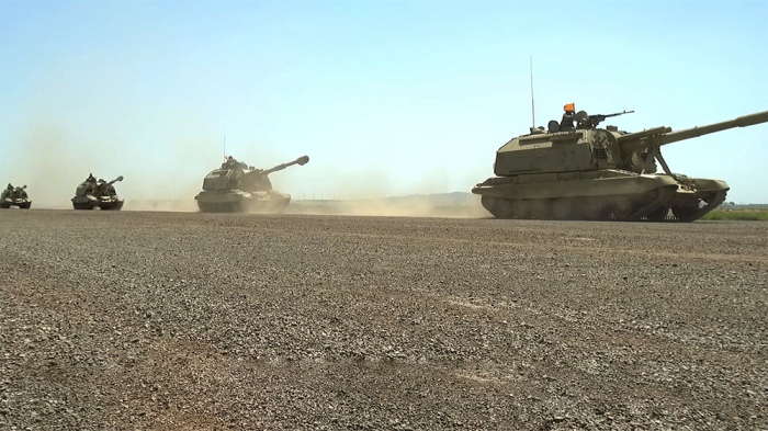 Azerbaijani troops involved in exercises deployed to concentration areas –   VIDEO