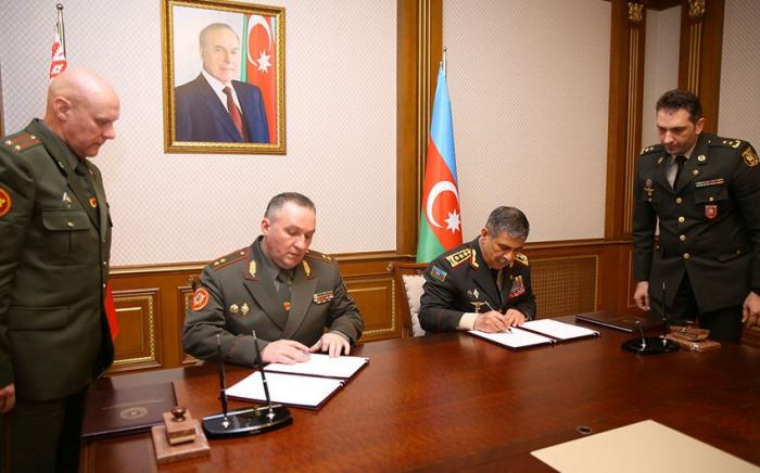 Azerbaijan, Belarus ink military cooperation plan