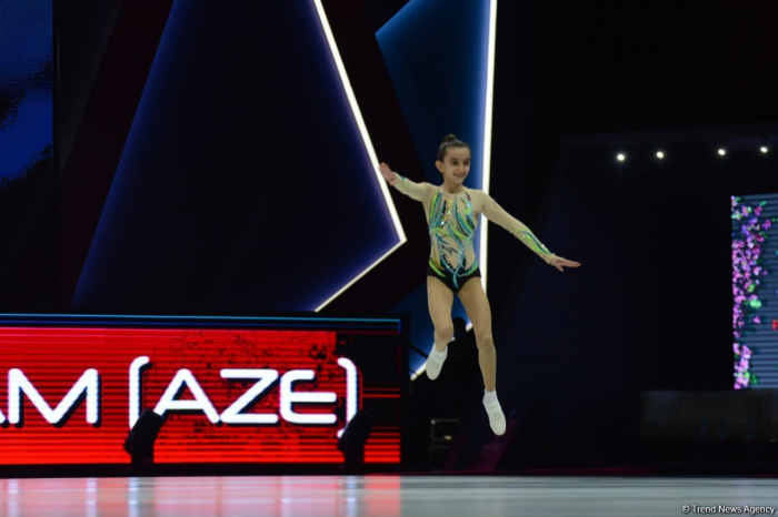 Azerbaijani athlete claims bronze at the World Aerobic Gymnastics Competition in Baku