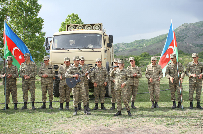 Numerous events held in military units stationed in liberated Azerbaijani territories