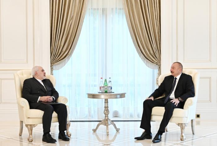Azerbaijani president Ilham Aliyev receives Iranian FM