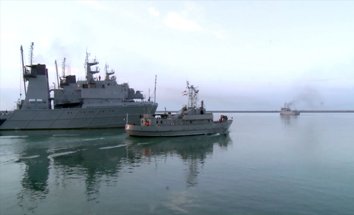 Azerbaijan Naval Forces ship crews carry out combat firing –   VIDEO