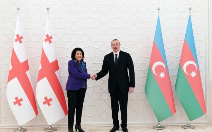 Azerbaijani president congratulates Georgian counterpart