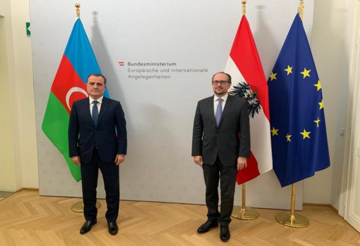 Azerbaijani FM meets his Austrian counterpart
