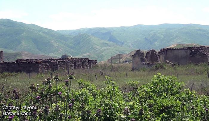 Hasanli village of Azerbaijan's Jabrayil region –   VIDEO