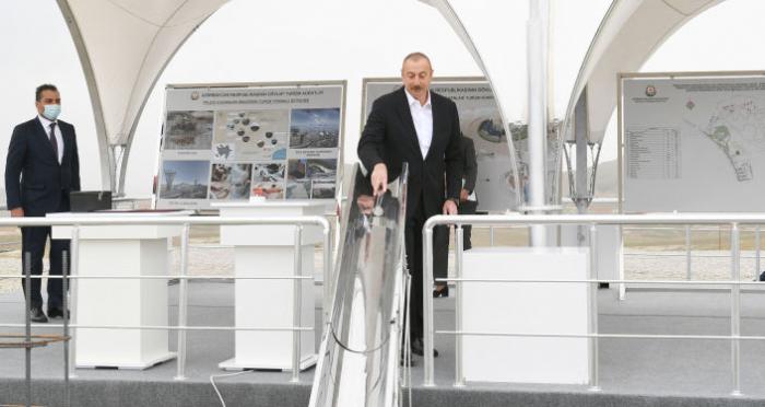 President Aliyev attends groundbreaking ceremony for Aghdam Industry Park