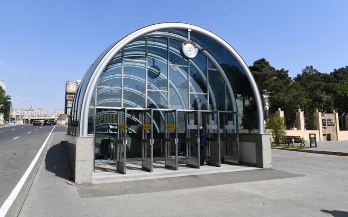 """Metronun """"8 Noyabr"""" stansiyası istifadəyə verildi -  FOTOLAR (YENİLƏNİB)"""