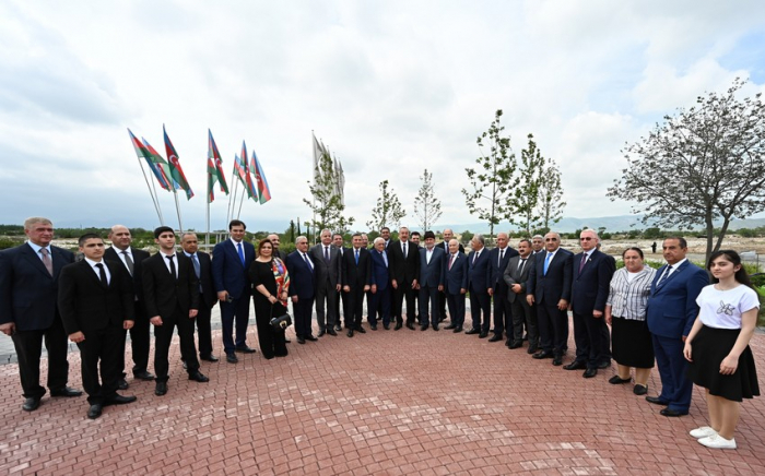President Ilham Aliyev attends ceremony to lay foundation stone for restoration of Aghdam city - UPDATED