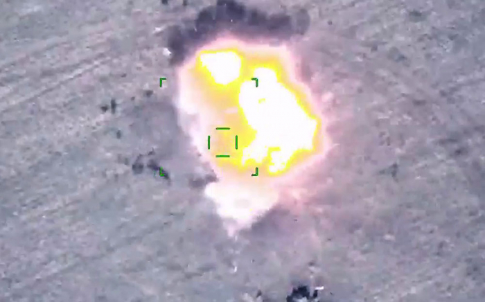 Azerbaijan releases footage of destruction of Armenia's military vehicles during Patriotic War