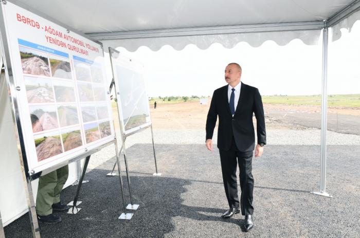 President Ilham Aliyev visits Aghdam - UPDATED