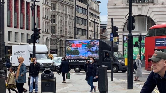 Londonda Respublika Gününə diqqəti cəlb edən aksiya