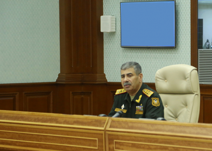 Azerbaijani defense minister instructs to take decisive steps, urgent actions to suppress enemy provocations
