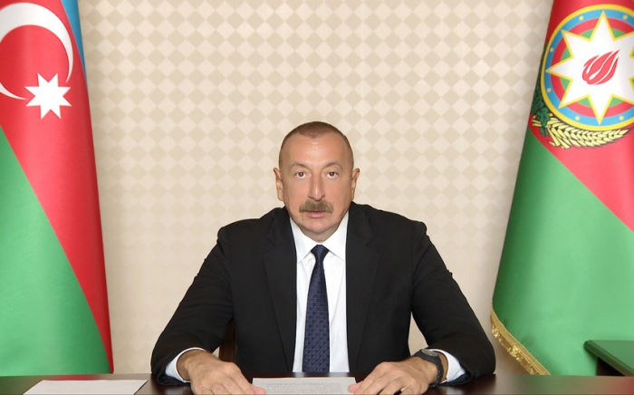 Azerbaijani president addresses 74th videoconference session of World Health Assembly