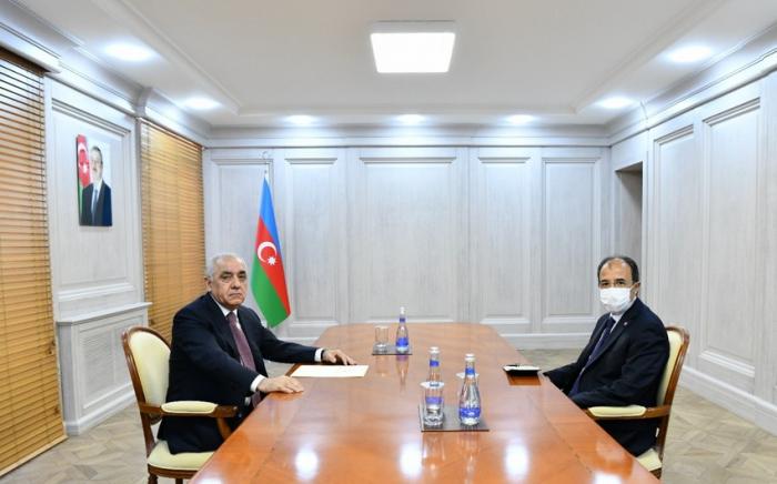 Azerbaijani PM meets with Turkish ambassador