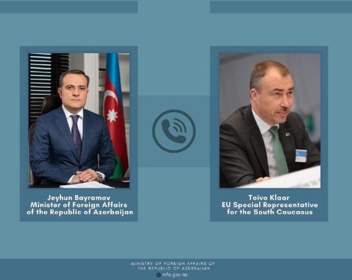 Azerbaijani FM, EU Special Representative discuss regional security