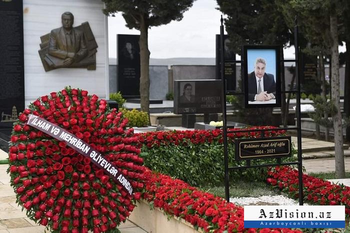 Azad Rəhimov son mənzilə yola salındı -  FOTO (YENİLƏNİB)