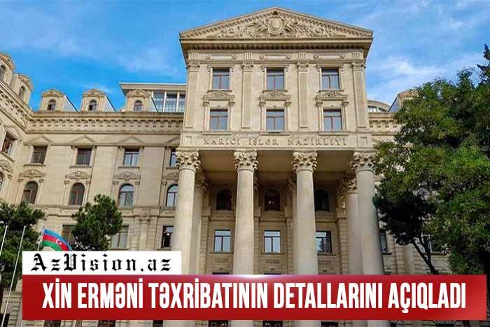 XİN erməni təxribatının detallarını açıqladı