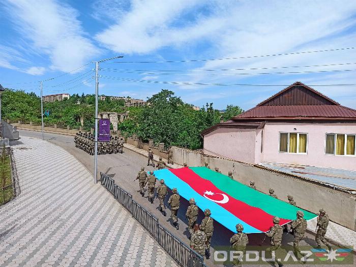"""Şuşada """"Mehtər"""" marşı ilə yürüş keçirildi -   FOTOLAR"""