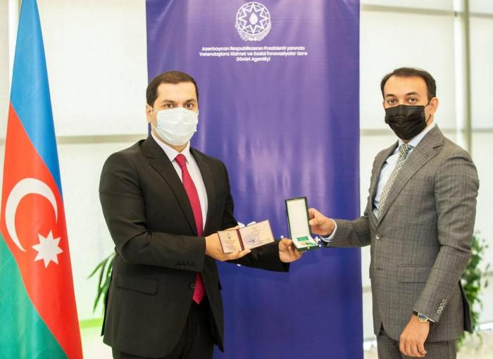 """""""ASAN xidmət"""" əməkdaşlarına medallar təqdim olunub -  FOTOLAR"""
