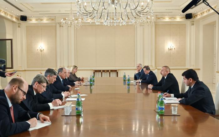 President Ilham Aliyev receives Russian FM - UPDATED