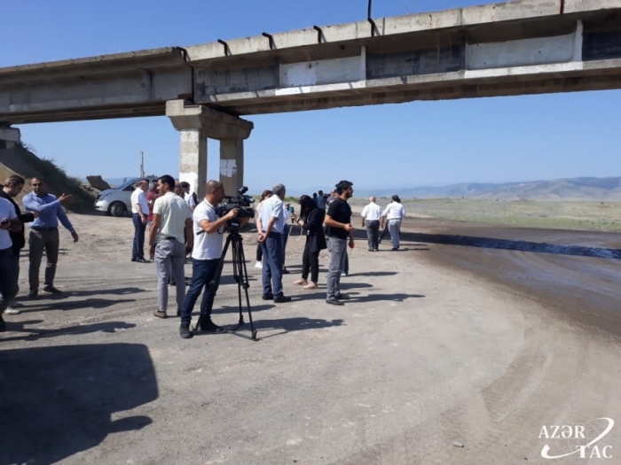 Media representatives visit liberated Aghdam district
