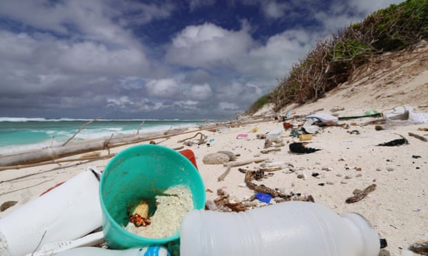 Plastic debris on remote islands increases temperatures by 2.5C and threatens turtle populations