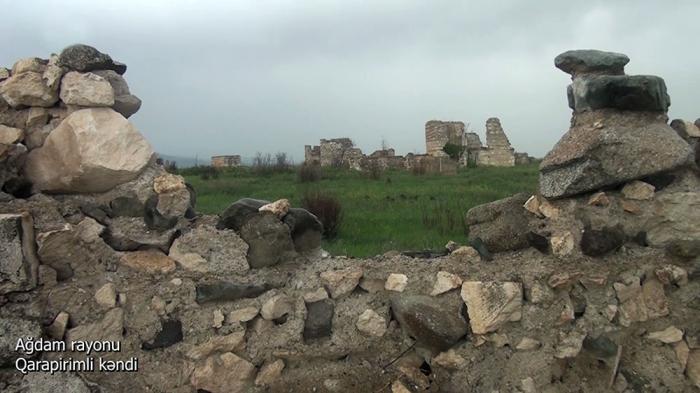 لقطات من قرية قارابيريملي في منطقة أغدام -   فيديو
