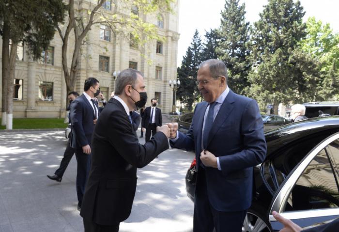 Ceyhun Bayramov Lavrovla görüşdü -  FOTOLAR (YENİLƏNİB)